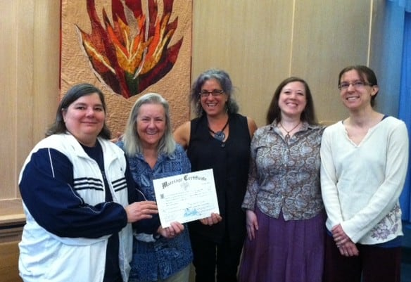 Rabbi Debra Kolodny | As the Spirit Moves Us. Celebrating Kat and Julia's Legal Marriage in Oregon